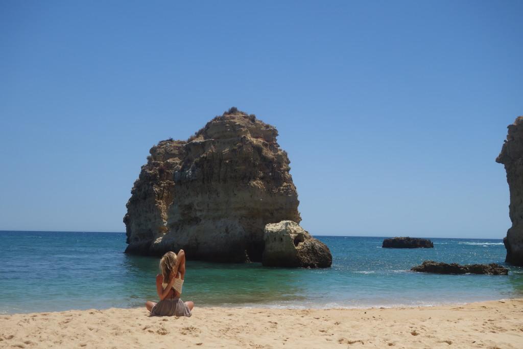 Yoga aan de kust - Algarve - Koeienkop - gomukhasana