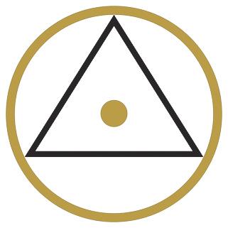 symbool 3 stip in het midden van de cirkel